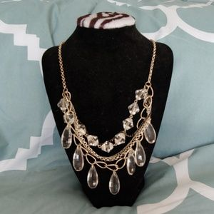 Mixed Metal and Crystal Necklace Shine the Light
